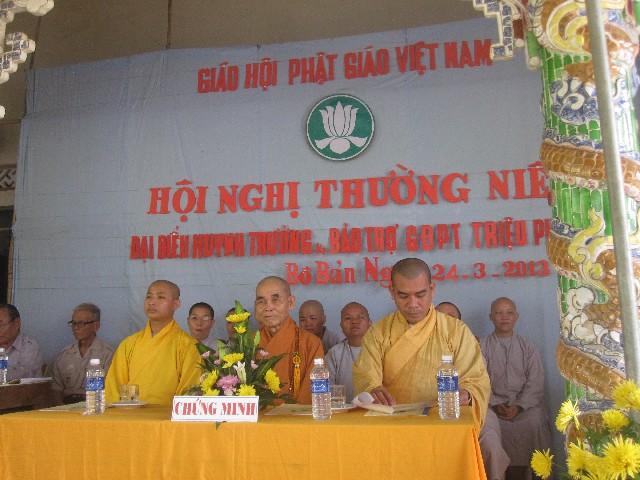 GĐPT Triệu Phong, Quảng Trị tổ chức Hội nghị tổng kết Phật sự