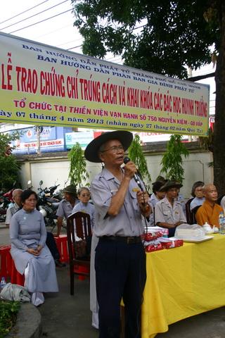 Anh Trưởng Phân ban GĐPT TP.HCM phát biểu khai mạc