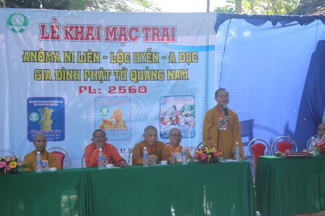 Huấn từ của Đại Đức Thích Như Giải, Trưởng ban HDPT Tỉnh Quảng Nam