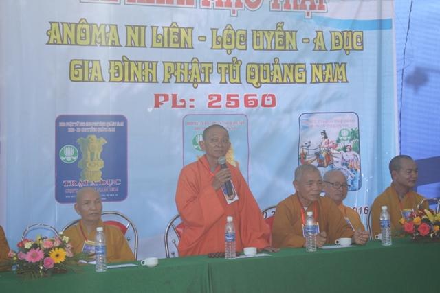 Thượng tọa Thích Hạnh Hoa, Phó ban Trị sự GHPGVN Tỉnh Quảng Nam, Trưởng ban Trị sự GHPGVN TP.Hội An ban Đạo Từ