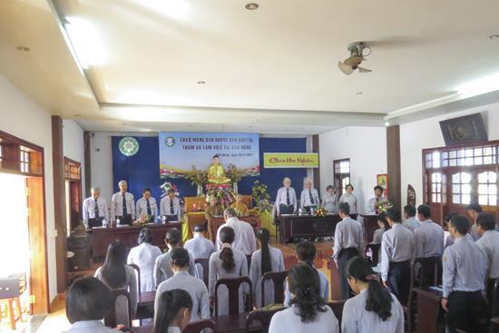 BHD Phân ban Gia đình Phật tử Trung ương thăm và làm việc tại Đăk Nông.