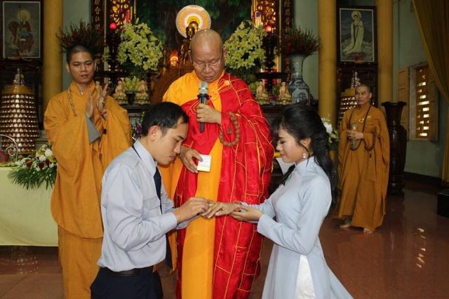 Đoàn sinh Gia đình Phật tử Kỳ Hoàn tổ chức Lễ Hằng Thuận tại chùa