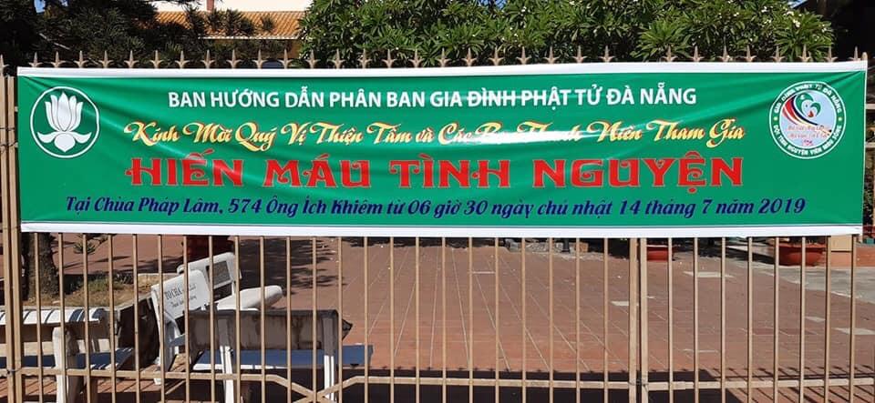 Gia đình Phật tử Đà Nẵng tổ chức Hiến Máu Tình Nguyện